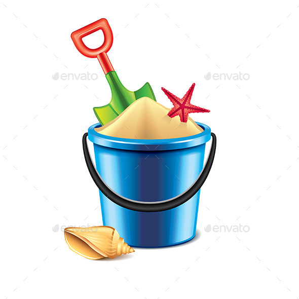 GraphicRiver Toy Bucket and Spade 9593837