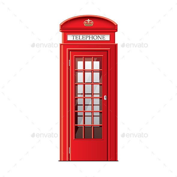GraphicRiver London Phone Booth 9593841