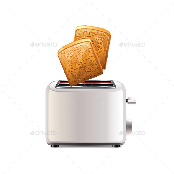 GraphicRiver Toaster with Toast 9593853