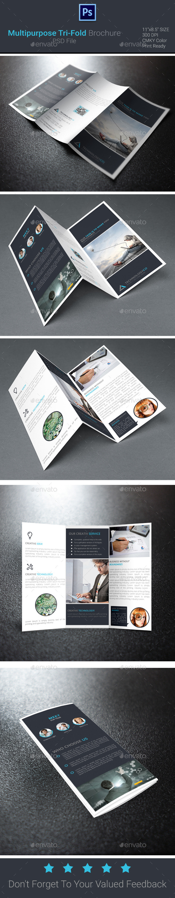 GraphicRiver Multipurpose Tri-Fold Brochure 9593912