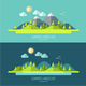 Flat Design Nature Landscape - GraphicRiver Item for Sale