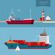 Transportation Cargo Ship Illustration - GraphicRiver Item for Sale