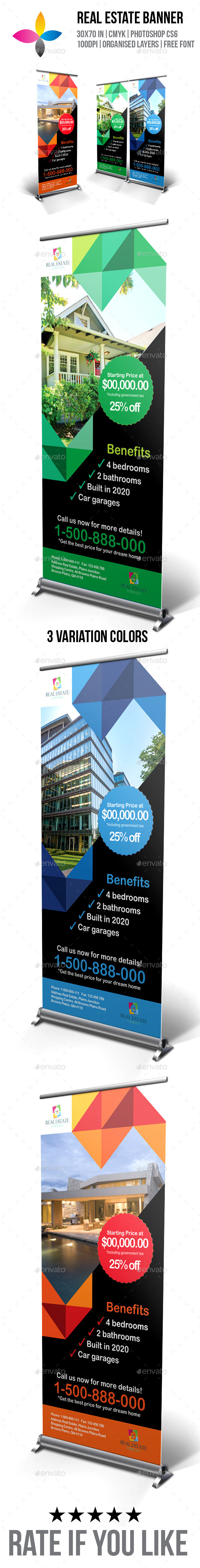 GraphicRiver Real Estate Roll-Up Banner 9594283