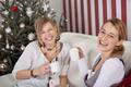 women celebrating christmas at home - PhotoDune Item for Sale