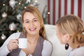relaxed woman enjoying a cup of coffee - PhotoDune Item for Sale