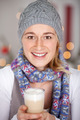 young woman with a glass of latte macchiato - PhotoDune Item for Sale
