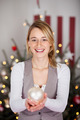 beautiful woman with christmas decoration - PhotoDune Item for Sale