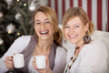 smiling females with a cup of coffee - PhotoDune Item for Sale