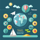 Icons Set of Planning a Summer Vacation - GraphicRiver Item for Sale