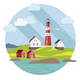 Lighthouse on the Landscape - GraphicRiver Item for Sale
