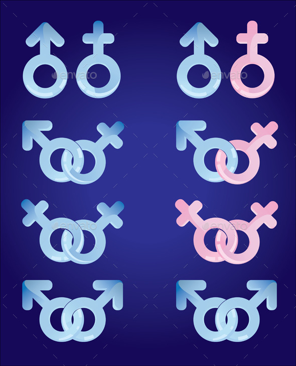 GraphicRiver Male and Female Signs Set 9594674