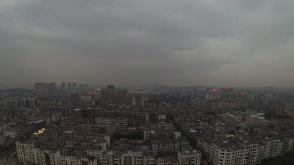 Guangzhou Day to Night with Smog