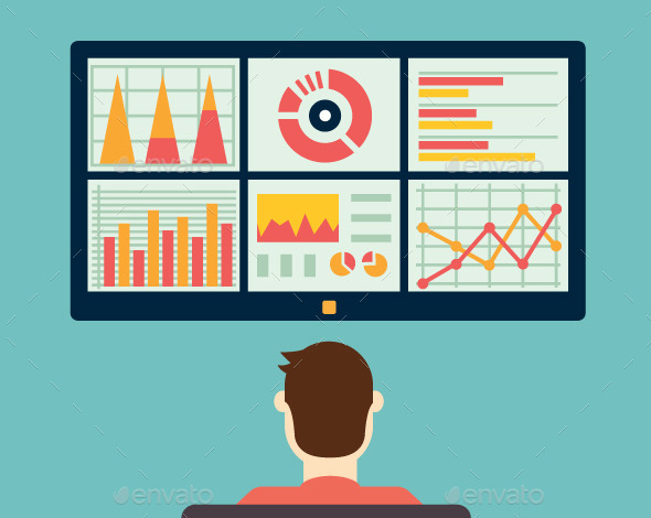 GraphicRiver Analysis of Information on the Dashboard 9594690