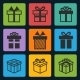 Black Gift Box Icons Set - GraphicRiver Item for Sale