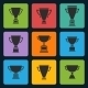Trophy Cup Icons Set - GraphicRiver Item for Sale
