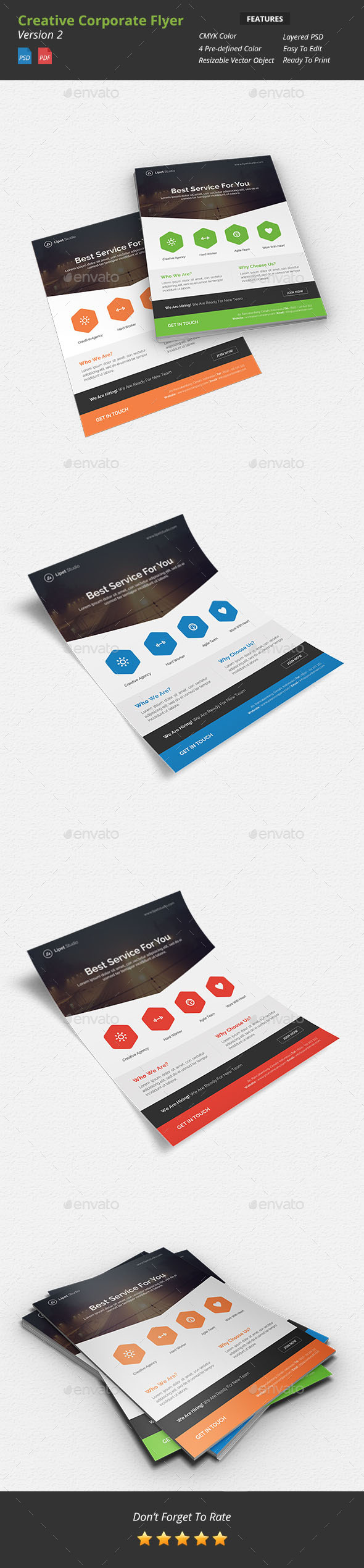 GraphicRiver Creative Corporate Flyer v2 9594725