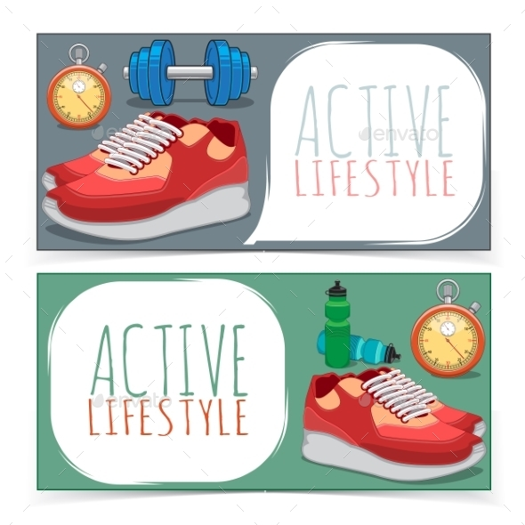GraphicRiver Active Lifestyle Banners 9594772