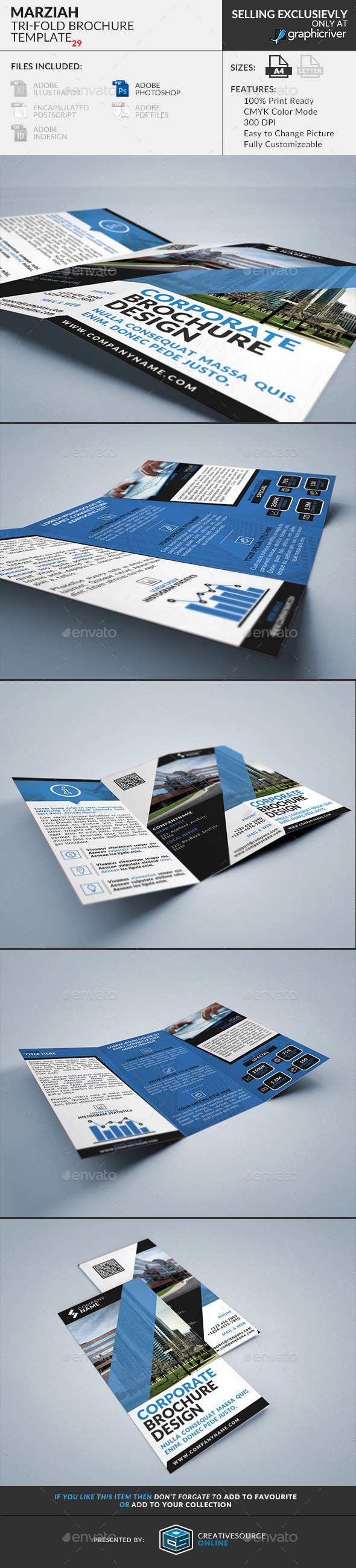 GraphicRiver Marziah Multipurpose Trifold Brochure 9594819