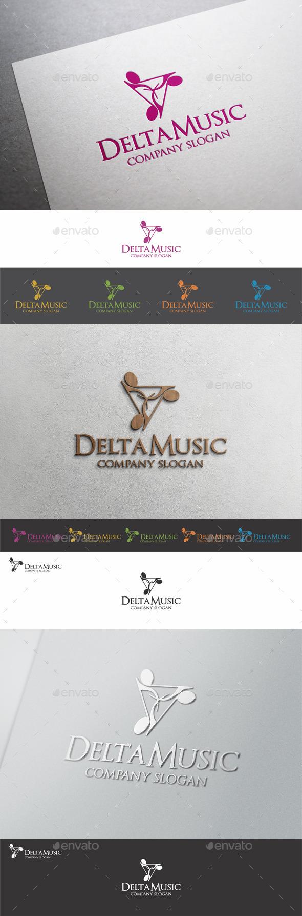 Delta Music Logo Template - Symbols Logo Templates