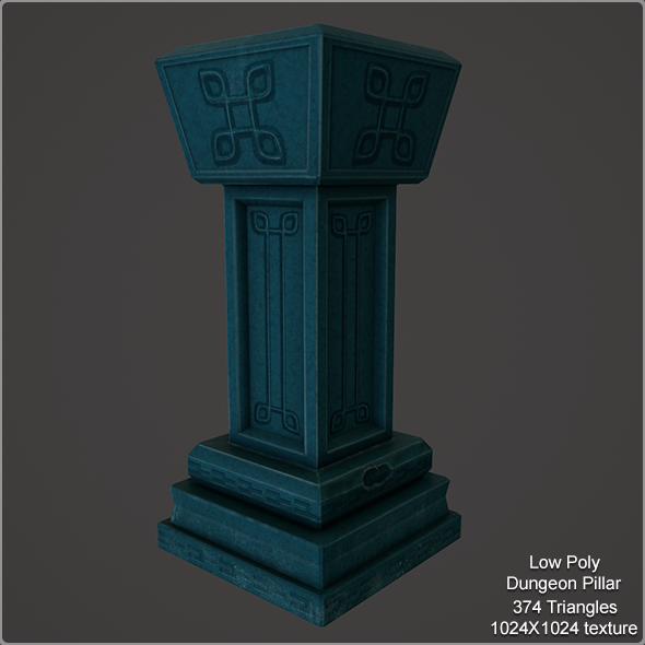 3DOcean Low Poly Pillar 9594926