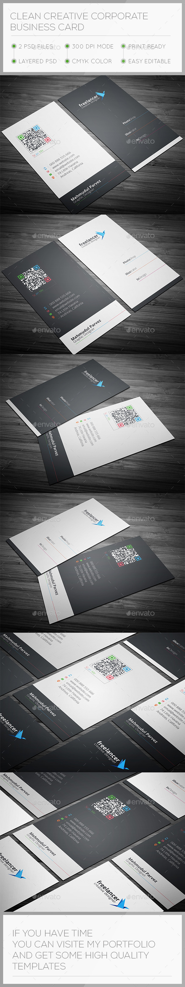 GraphicRiver Clean & Creative Business Card 9595304