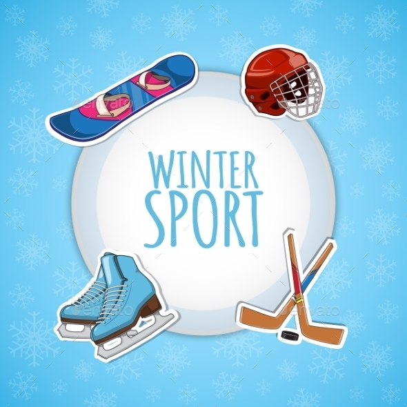 GraphicRiver Winter Sports Background 9595357
