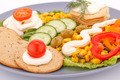 Snack with vegetables and crackers - PhotoDune Item for Sale