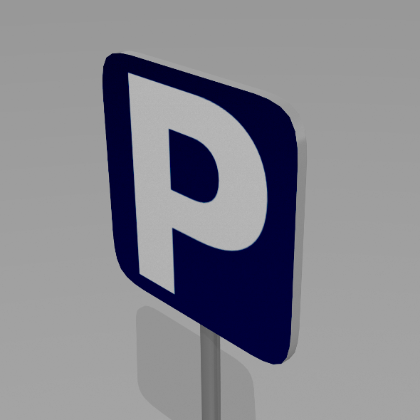3DOcean Parking sign 9595576