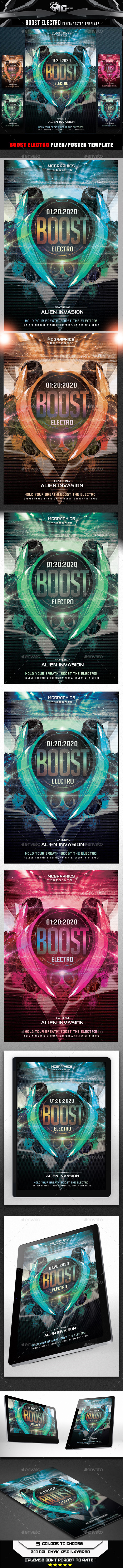Boost Electro Flyer Template