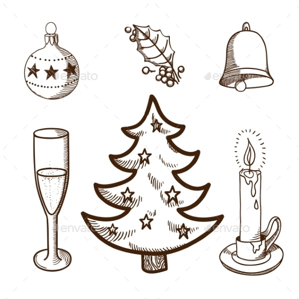 GraphicRiver Christmas and New Year Objects 9595743