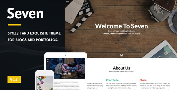 ThemeForest Seven Stylish WordPress Theme 9409248