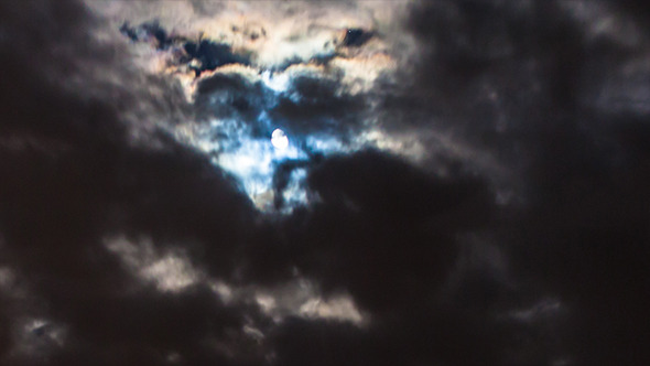 Night Clouds Moon