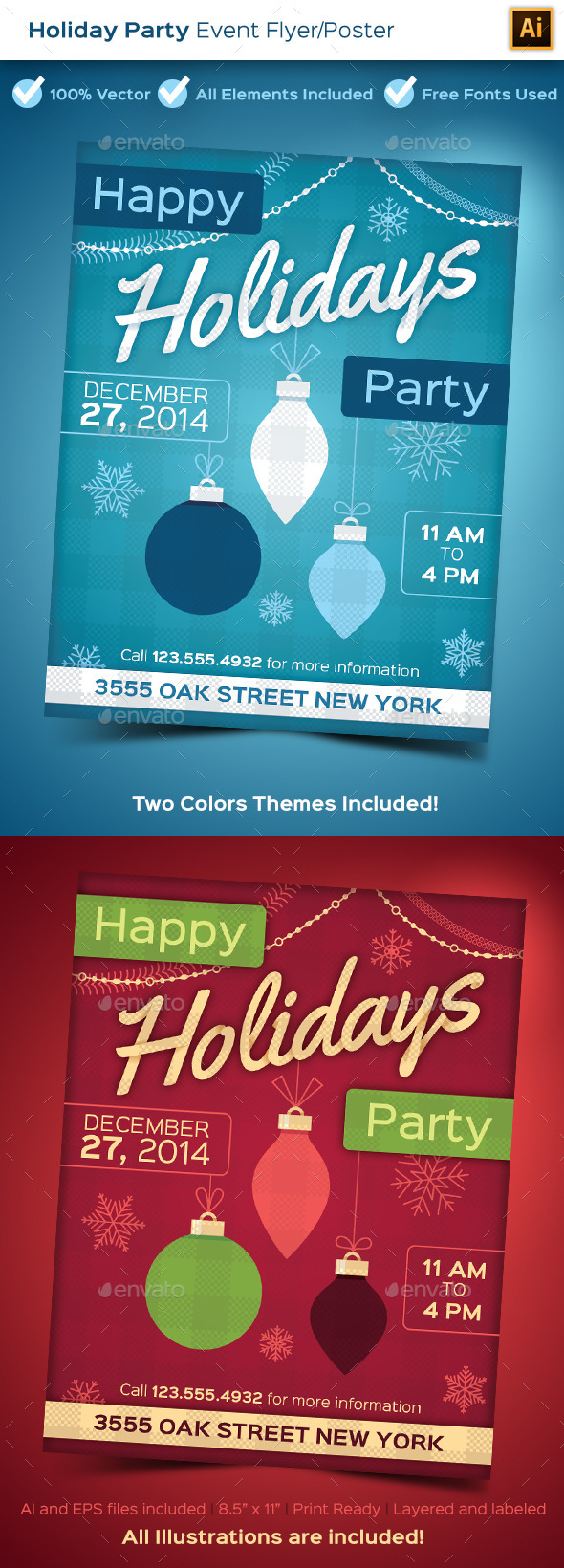 GraphicRiver Holiday Party Poster 9596014