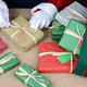 Santa Wrapping Christmas Presents - PhotoDune Item for Sale