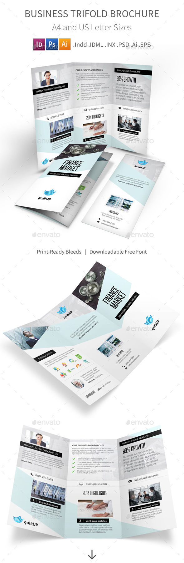 GraphicRiver Business Trifold Brochure 9596369