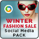 Winter Fashion Social Media Graphic Pack - GraphicRiver Item for Sale