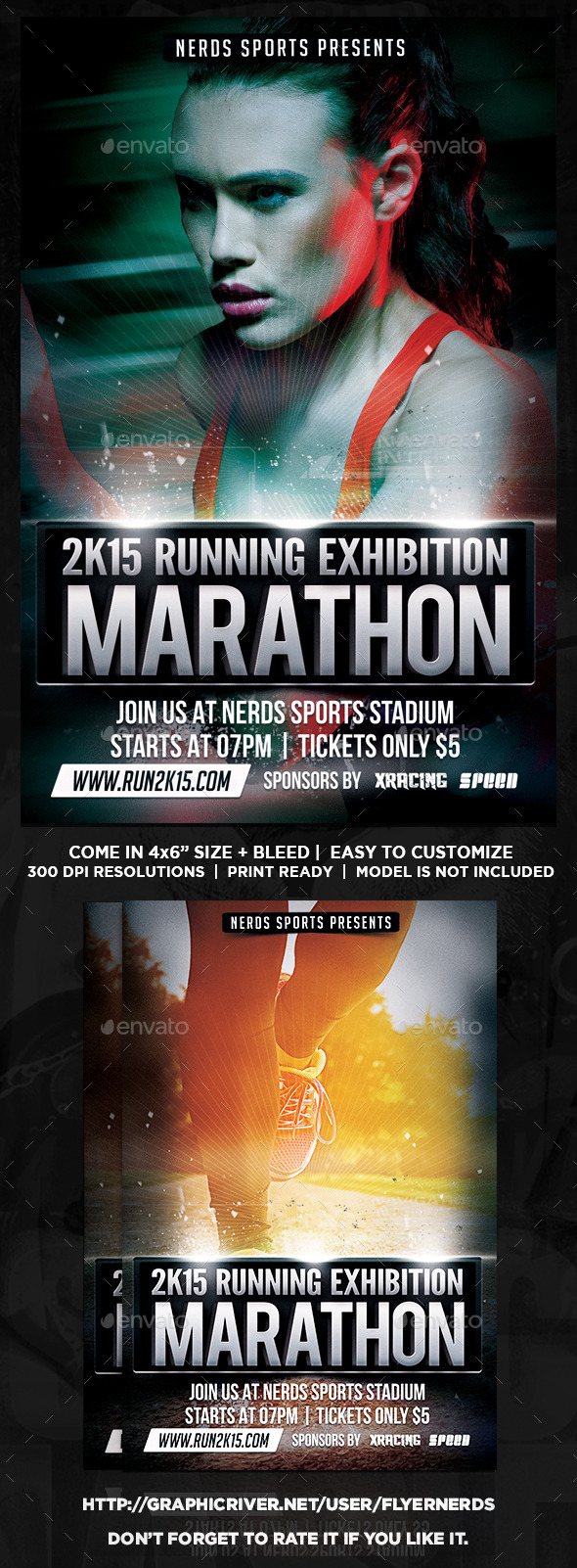 2K15 Marathon Exhibition Sport Flyer