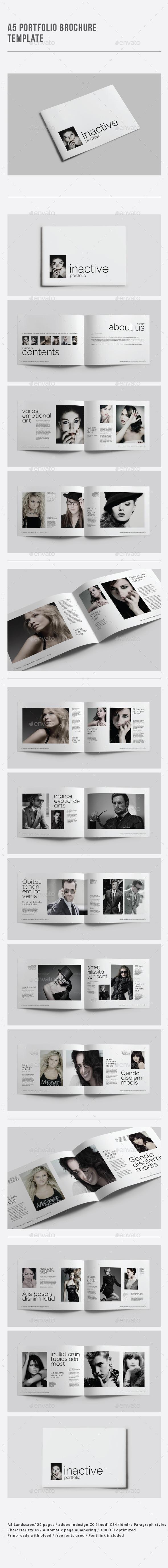 A5 Portfolio Brochure Template
