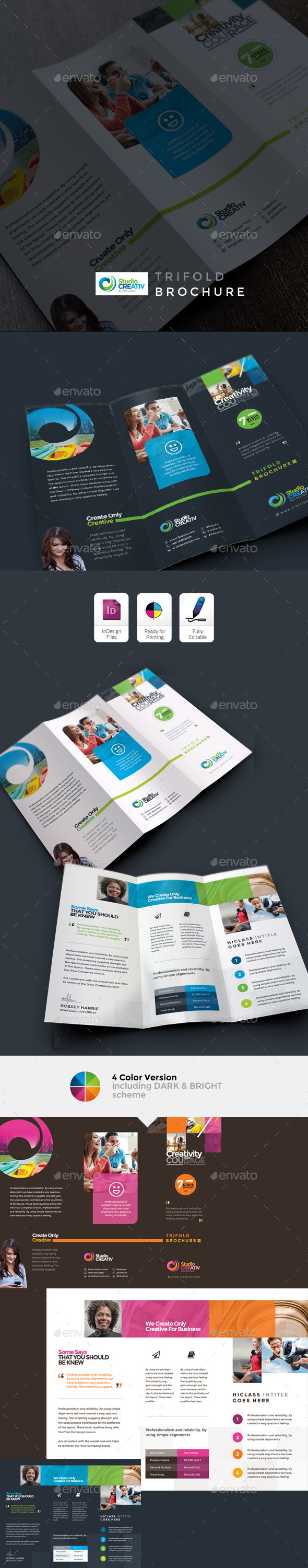 GraphicRiver Creative Clean Trifold Brochure 9596927