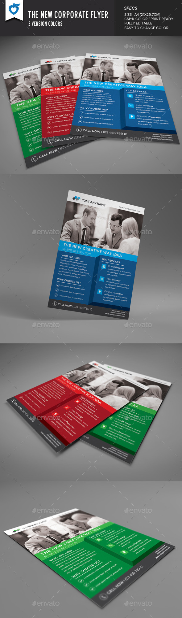 GraphicRiver The New Corporate Flyer 9597015