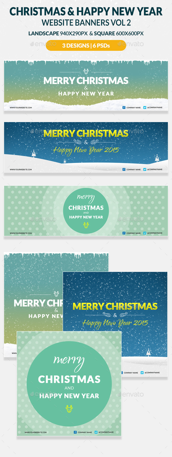GraphicRiver Christmas And Happy New Year Website Banners Vol 2 9597040
