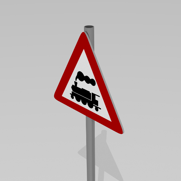 3DOcean Rail crossing sign 9597048
