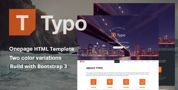 Typo - One Page HTML5 Template