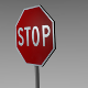 Stop sign - 3DOcean Item for Sale