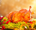 Christmas table setting with roasted turkey - PhotoDune Item for Sale