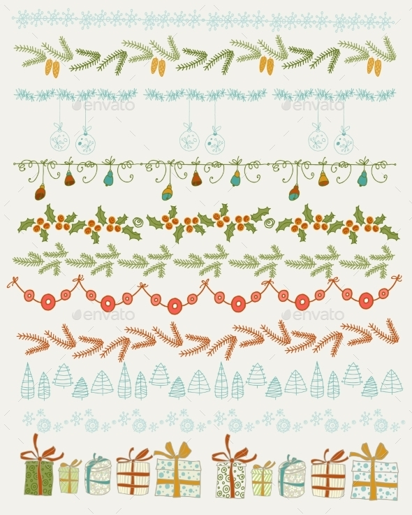 GraphicRiver Set of Christmas and Decorations 9597185