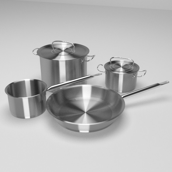3DOcean Cooking Pots and Pan 9597302