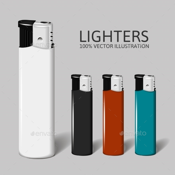 GraphicRiver Realistic Set of Lighters for your Brand 9597358