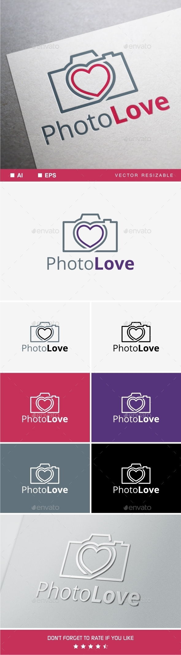 GraphicRiver Photo Love Logo 9597549
