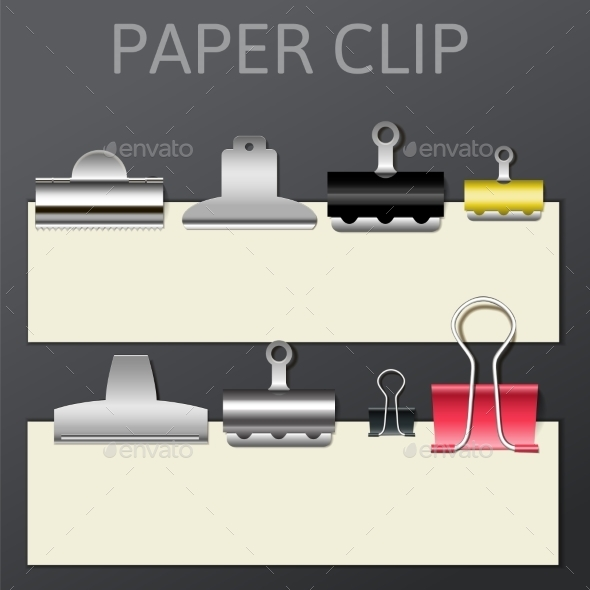 GraphicRiver Set of Different Paper Clips for Your Design 9597659